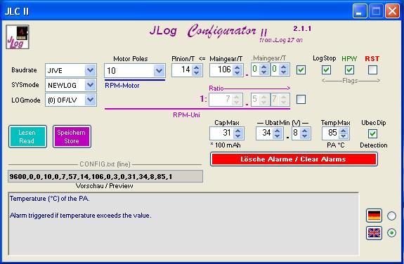 JLog Configurator JLC-II