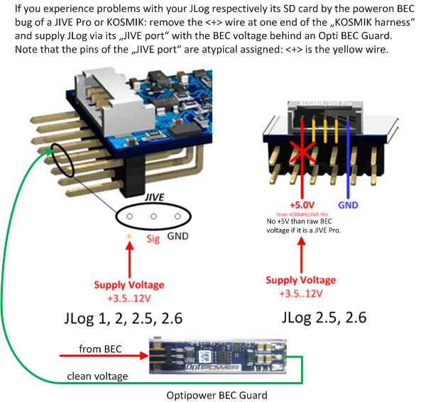 JIVE Pro / KOSMIK Powerup BEC Bug