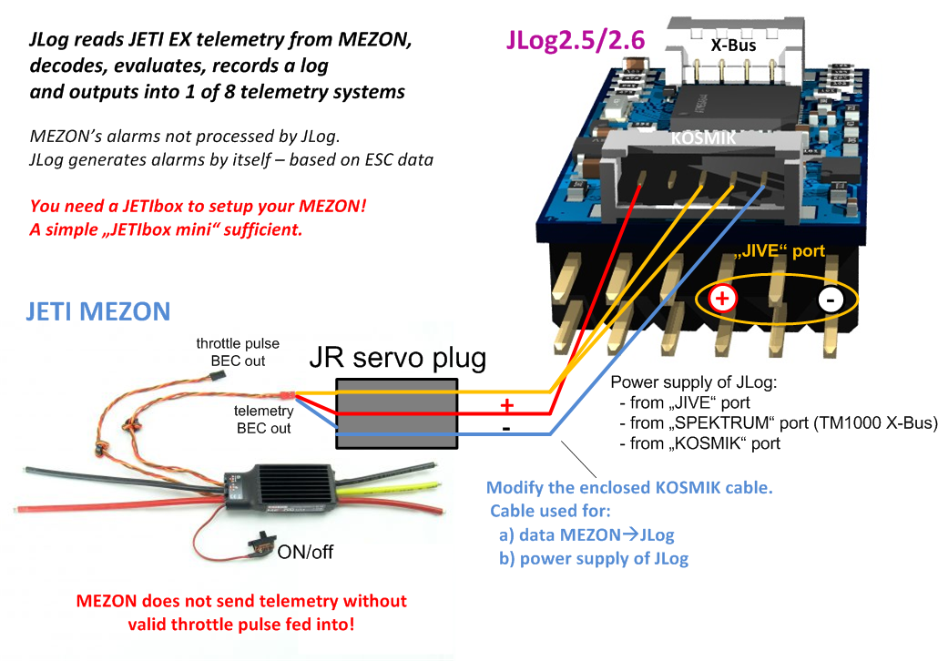 how to connect jeti rsat2 rx